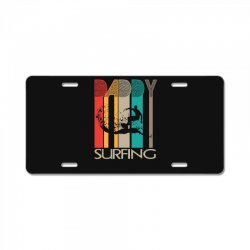 daddy surfing License Plate | Artistshot