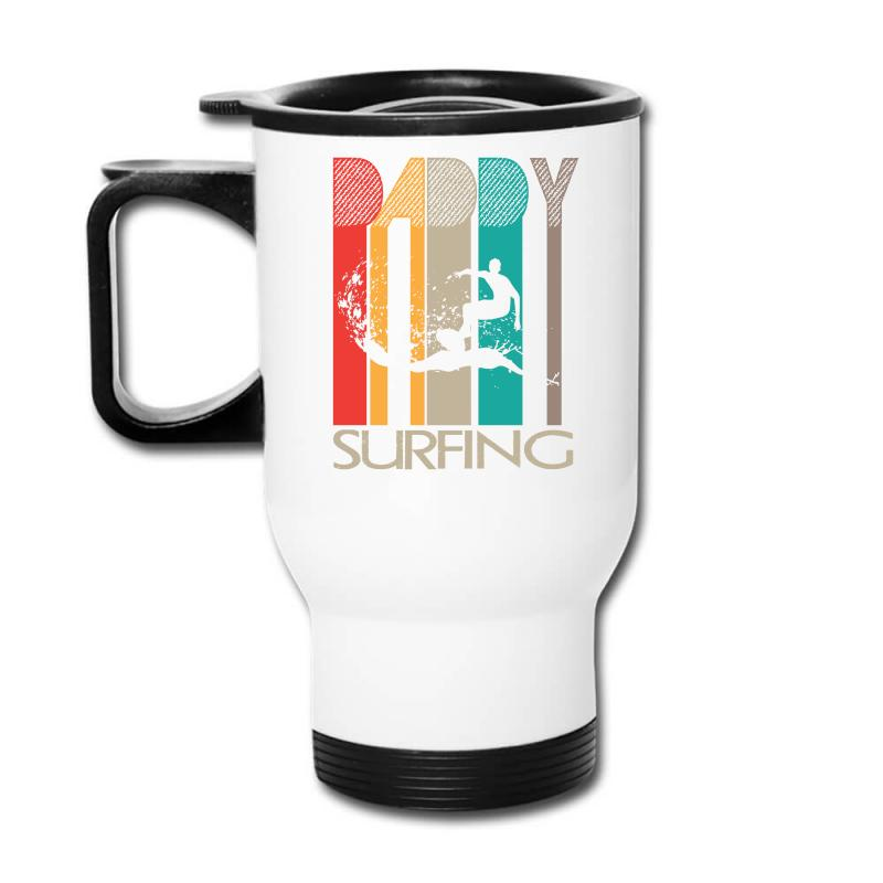 Daddy Surfing Travel Mug | Artistshot
