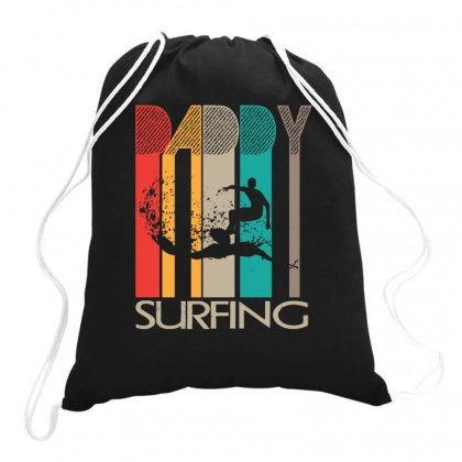 Daddy Surfing Drawstring Bags Designed By Hoainv