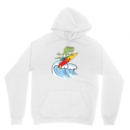 Dinosaur Surfing On Waves Unisex Hoodie Designed By Hoainv