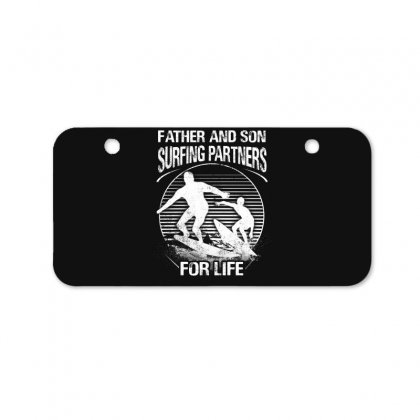 Father And Son Surfing Partners For Life Bicycle License Plate Designed By Hoainv