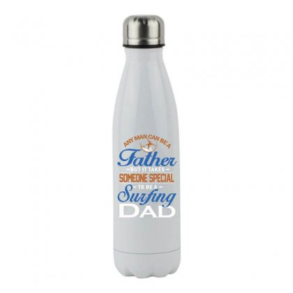 Someone Special To Be A Surfing Dad Stainless Steel Water Bottle Designed By Hoainv