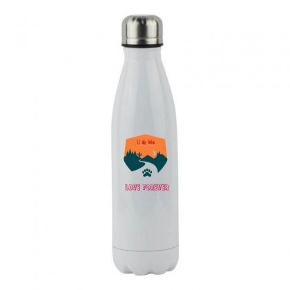 Couple T Shirt Stainless Steel Water Bottle Designed By Rkcecb2012