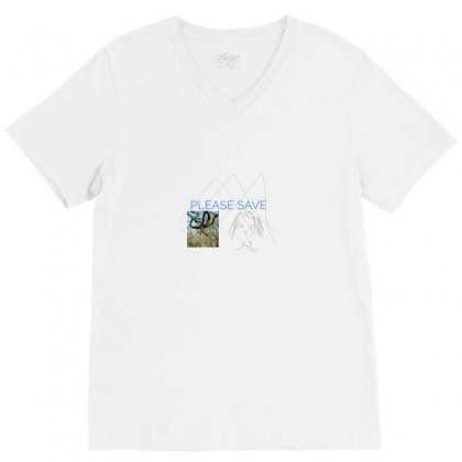 Save Us V-neck Tee Designed By Achintya