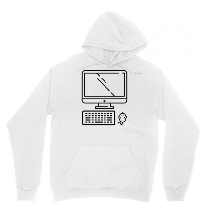 Funny Computer With Mouse Unisex Hoodie Designed By Milamaftah
