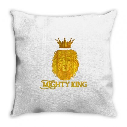 Mighty King Throw Pillow Designed By Idealist-003
