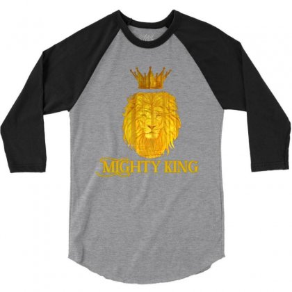 Mighty King 3/4 Sleeve Shirt Designed By Idealist-003