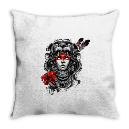 Jaguar Woman Throw Pillow Designed By Tiococacola