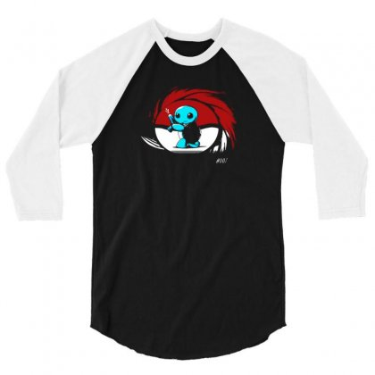 Squirtle, 007 3/4 Sleeve Shirt Designed By F4j4r