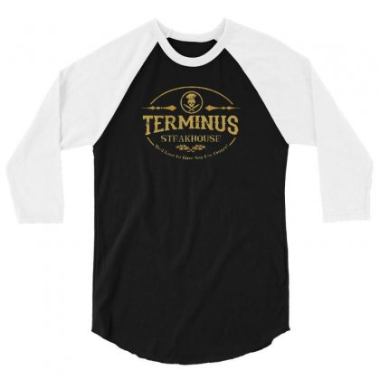 Terminus Steakhouse 3/4 Sleeve Shirt Designed By F4j4r
