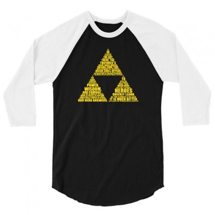 The Triforce 3/4 Sleeve Shirt Designed By F4j4r