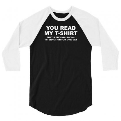You Read 3/4 Sleeve Shirt Designed By F4j4r
