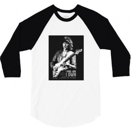 Ritchie Blackmore Bw 3/4 Sleeve Shirt Designed By Sr88