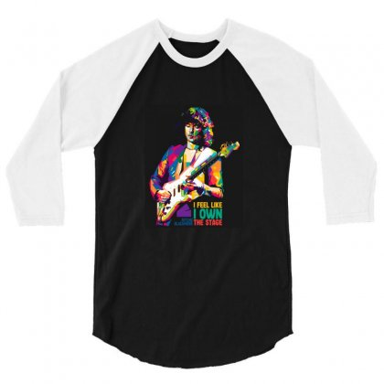 Ritchie Blackmore 3/4 Sleeve Shirt Designed By Sr88