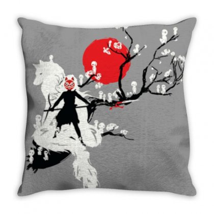 Japan Spirits Throw Pillow Designed By Cutmemey