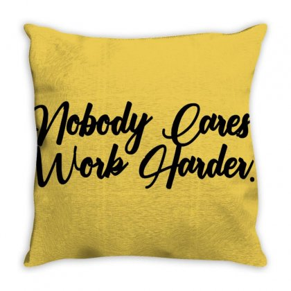 Work Harder Throw Pillow Designed By Cutmemey
