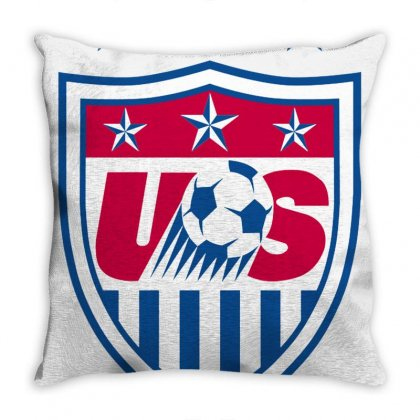 Uswnt Crest Throw Pillow Designed By Cutmemey