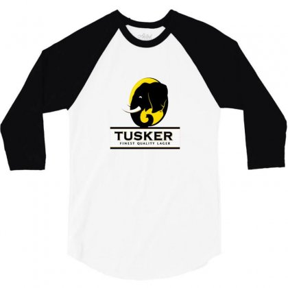 Tusker Lager Logo 3/4 Sleeve Shirt Designed By Cutmemey
