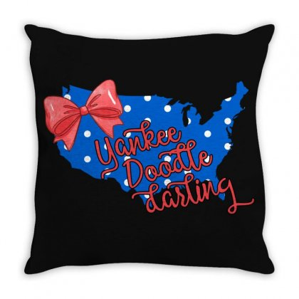 Yankee Doodle Darling Throw Pillow Designed By Gurkan
