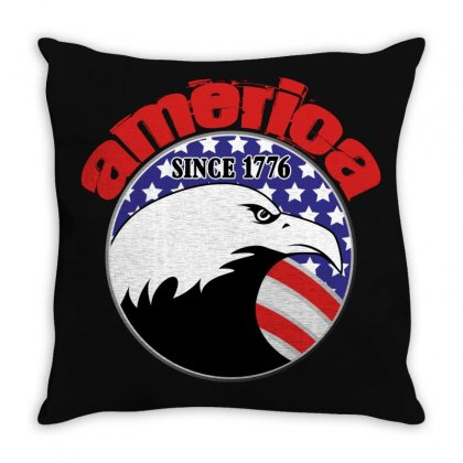 America Since 1776 Throw Pillow Designed By Gurkan