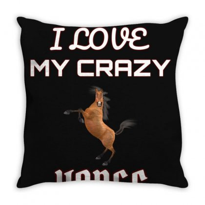 I Love My Horse Throw Pillow Designed By Ianski