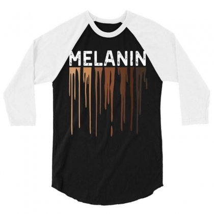 Drippin Melanin Shirts For Women Pride Gifts Black History 3/4 Sleeve Shirt Designed By Amber Petty