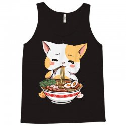 kawaii neko ramen cute ramen cat japanese noodle funny anime Tank Top | Artistshot