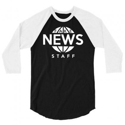 Fake News Staff 3/4 Sleeve Shirt Designed By Milamaftah