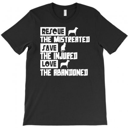 Rescue Save Love Funny Animal T-shirt Designed By Milamaftah