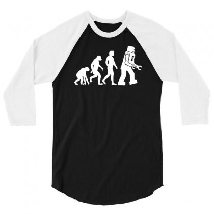 Robot Evolution Funny 3/4 Sleeve Shirt Designed By Milamaftah
