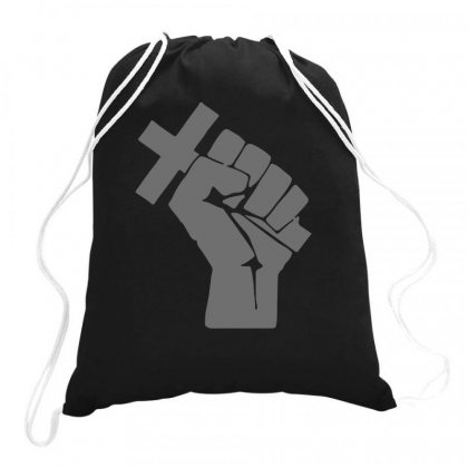 Husband Revolution Cross In Fist Drawstring Bags Designed By Teeshop