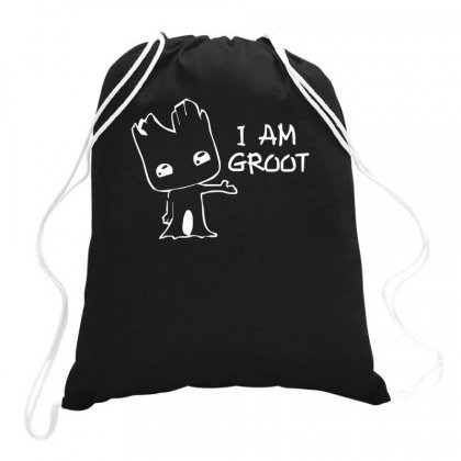 I Am Groot Drawstring Bags Designed By Teeshop