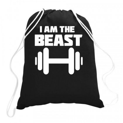 I Am The Beast Drawstring Bags Designed By Teeshop
