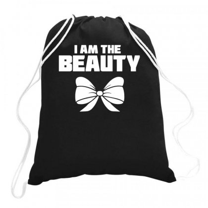 I Am The Beauty Drawstring Bags Designed By Teeshop
