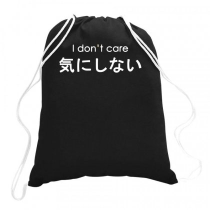I Don't Care Drawstring Bags Designed By Teeshop