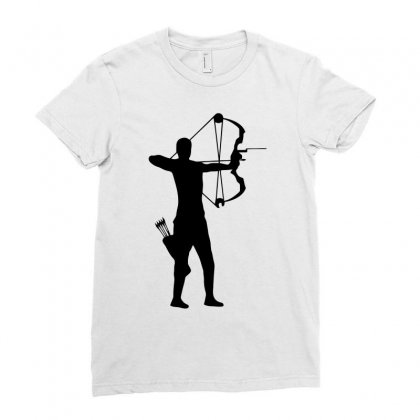 Archer Silhouette Funny Ladies Fitted T-shirt Designed By Milamaftah