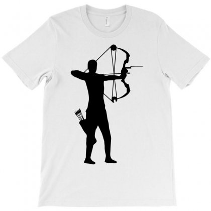 Archer Silhouette Funny T-shirt Designed By Milamaftah