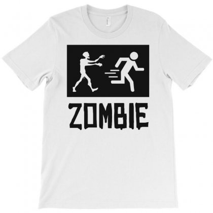 Zombie Escape Funny T-shirt Designed By Milamaftah