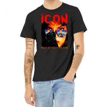 Icon Right Between The Eyes Heather T-shirt Designed By Teeshop
