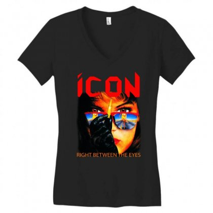 Icon Right Between The Eyes Women's V-neck T-shirt Designed By Teeshop