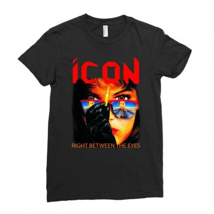 Icon Right Between The Eyes Ladies Fitted T-shirt Designed By Teeshop