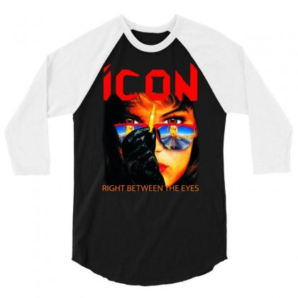Icon Right Between The Eyes 3/4 Sleeve Shirt Designed By Teeshop