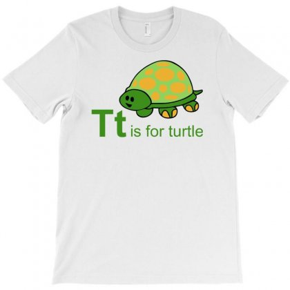 T Is Turtle Funny T-shirt Designed By Milamaftah