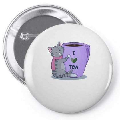 Tea Lover Cat Pin-back Button Designed By Hoainv
