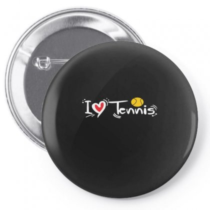 I Love Tennis Pin-back Button Designed By Hoainv