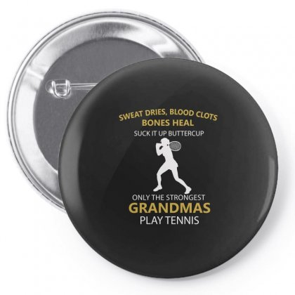 Jealous Only The Strongest Grandmas Play Tennis Pin-back Button Designed By Hoainv