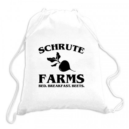 Dunder Miffilin Drawstring Bags Designed By Hose White