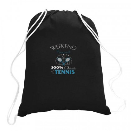 Tennis  Weekend Forecast Drawstring Bags Designed By Hoainv