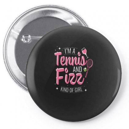 Tennis And Wine Kind Of Girl Pin-back Button Designed By Hoainv