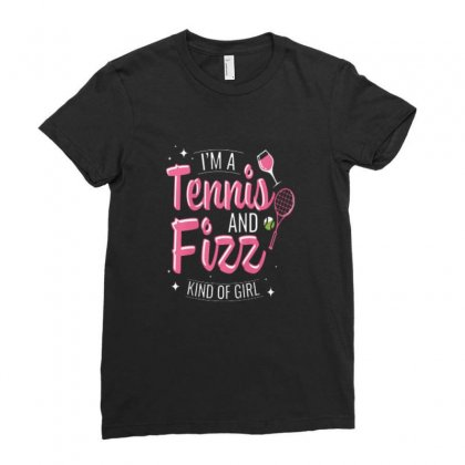 Tennis And Wine Kind Of Girl Ladies Fitted T-shirt Designed By Hoainv
